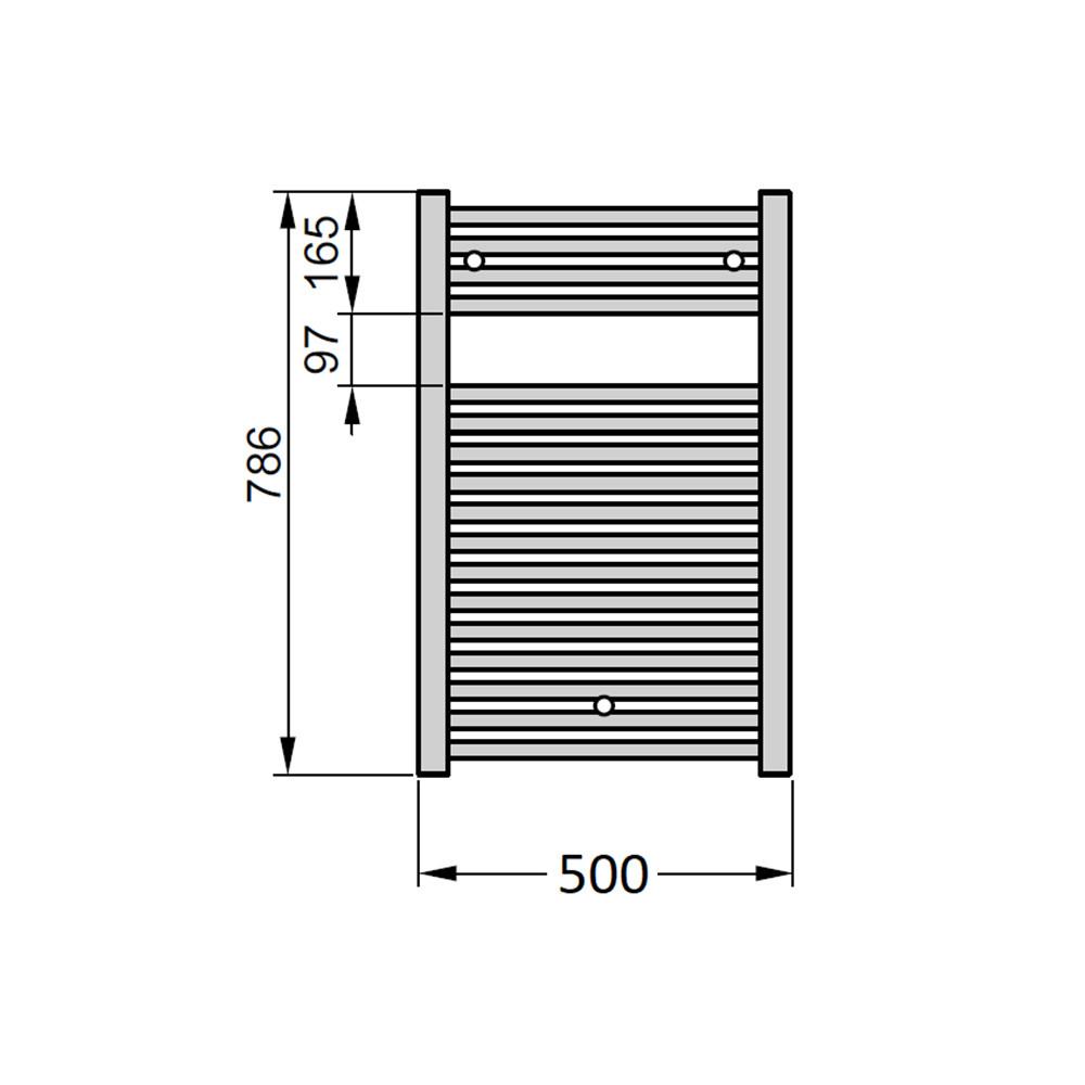 Электрический полотенцесушитель Zehnder Virando 500х786 с теном hots с/м черный матовый